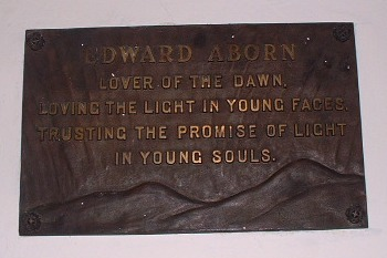 Tablet reading: Edward Aborn: Lover of the dawn, loving the light in 